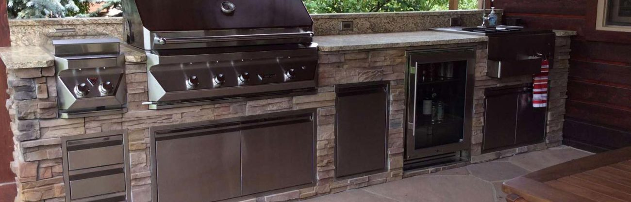 Outdoor kitchens fireplaces appliances in louisville co for Outdoor kitchen grill insert